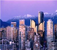 Vancouver's beautiful skyline with the Coastal Mountain range behind