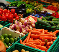 Vegetables at one of the Gulf Islands many farmers markets